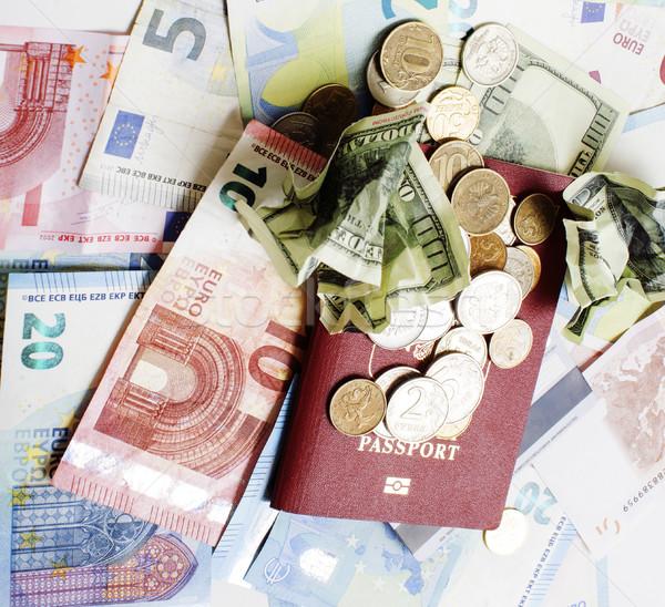 Voyage vacances mode de vie trésorerie argent table Photo stock © iordani