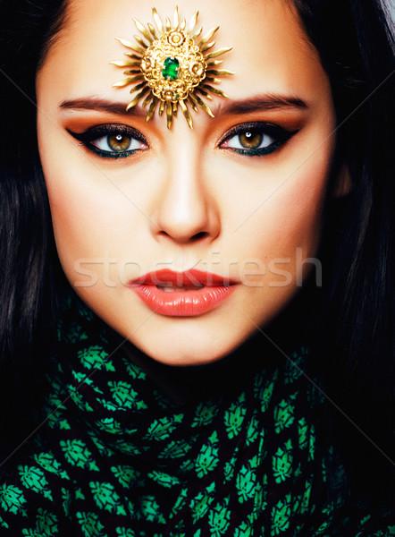 Belleza oriental real musulmanes mujer joyas Foto stock © iordani