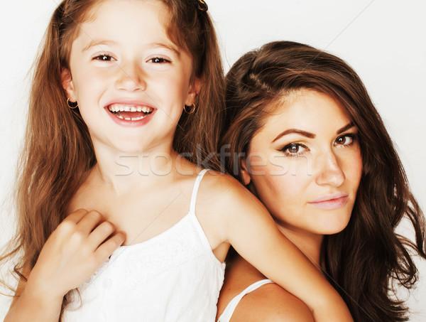 ストックフォト: 小さな · 母親 · かわいい · 娘