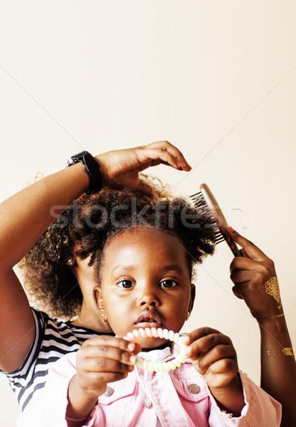 прелестный Sweet молодые матери Cute мало Сток-фото © iordani