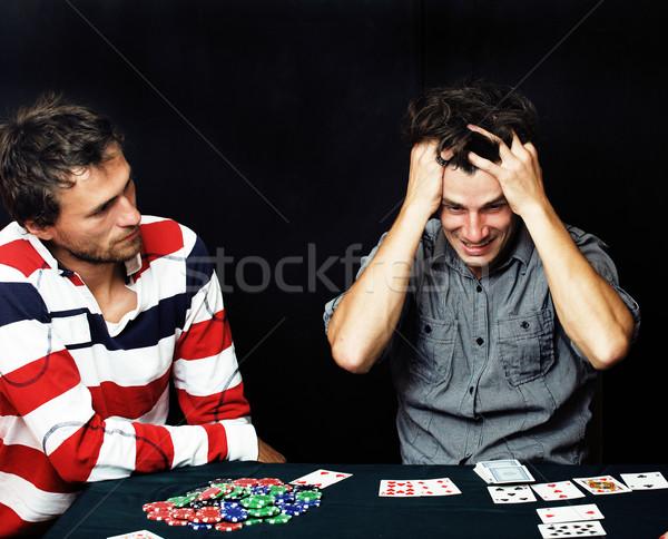 люди играет покер жизни женщины Сток-фото © iordani