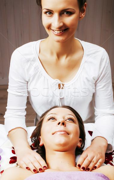 Stock foto attrattivo signora trattamento termale salone Foto d'archivio © iordani