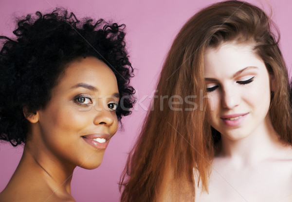 異なる 国家 女の子 皮膚 髪 アフリカ系アメリカ人 ストックフォト © iordani