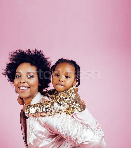 Jonge mooie moeder weinig cute dochter Stockfoto © iordani
