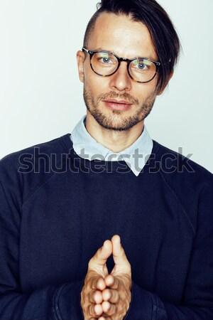 красивый средний возраст человека современных Сток-фото © iordani