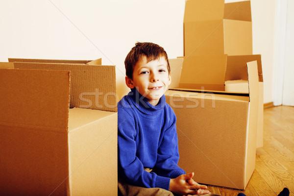 Piccolo cute ragazzo stanza vuota home Foto d'archivio © iordani