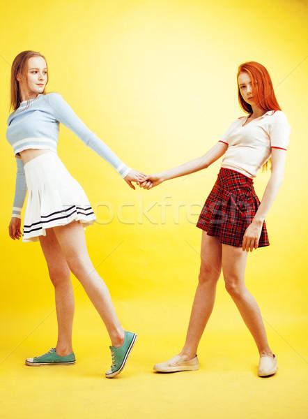 Mode de vie personnes deux joli élégant modernes Photo stock © iordani
