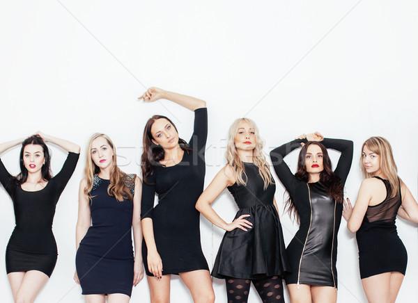 Grup çok serin modern kızlar arkadaşlar Stok fotoğraf © iordani