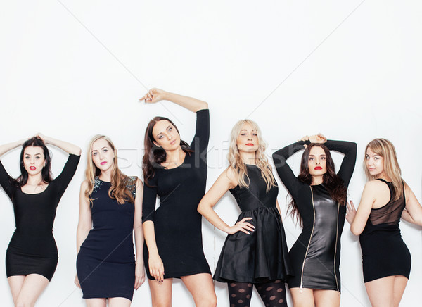 Grupo muitos legal moderno meninas amigos Foto stock © iordani