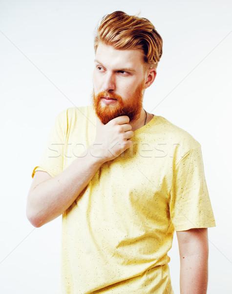 小さな ハンサム ヒップスター あごひげを生やした 男 見える ストックフォト © iordani