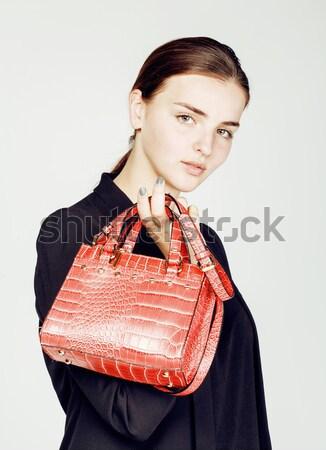 Genç güzel serin moda iş bayan Stok fotoğraf © iordani