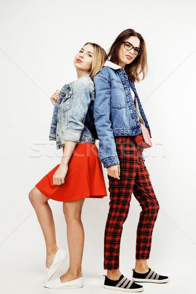 Nastolatki wraz stwarzające emocjonalny Zdjęcia stock © iordani