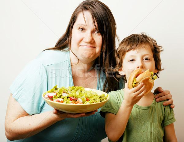 Mulher madura salada pequeno bonitinho menino Foto stock © iordani