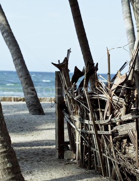 Stok fotoğraf: Küçük · ev · avuç · içi · kum · yoksul · balıkçı