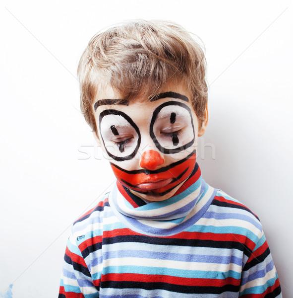 мало Cute мальчика подобно клоуна реальный Сток-фото © iordani
