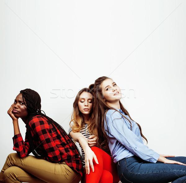 Diverso nación ninas grupo amigos Foto stock © iordani