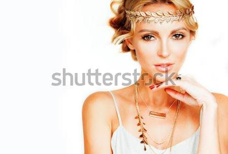 Giovani donna come antica greco Foto d'archivio © iordani