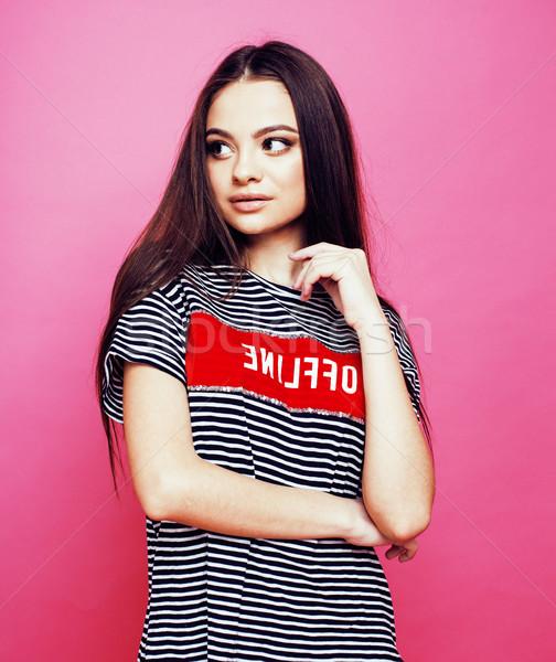 Jonge mooie vrouw poseren Stockfoto © iordani