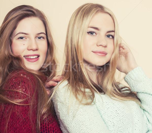 二 年輕 冬天 商業照片 © iordani