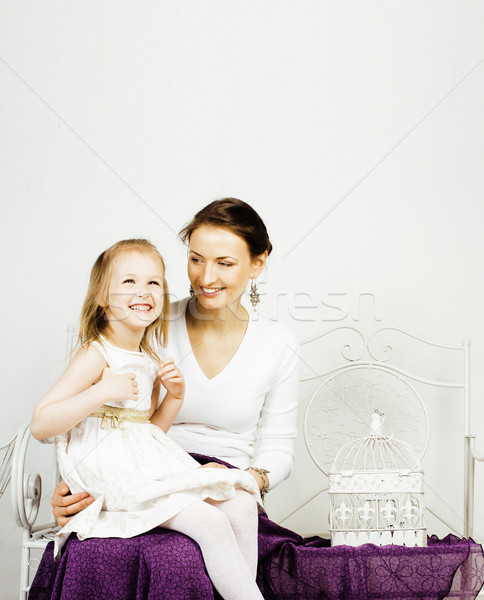 молодые матери дочь домой белый ярко Сток-фото © iordani