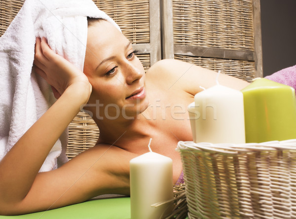 stock photo attractive lady getting spa treatment in salon, healthcare people concept Stock photo © iordani