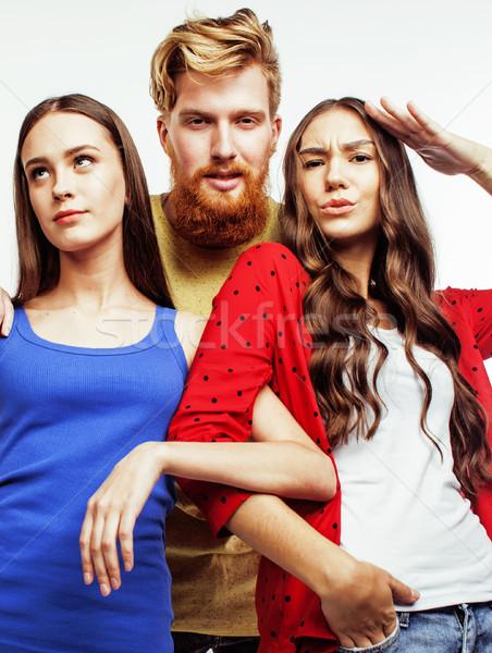 şirket sakallı erkek Stok fotoğraf © iordani