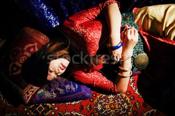 小さな かなり アジア 少女 明るい ストックフォト © iordani