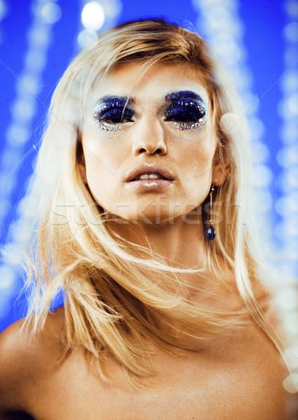 Güzellik genç kar kraliçe peri saç Stok fotoğraf © iordani