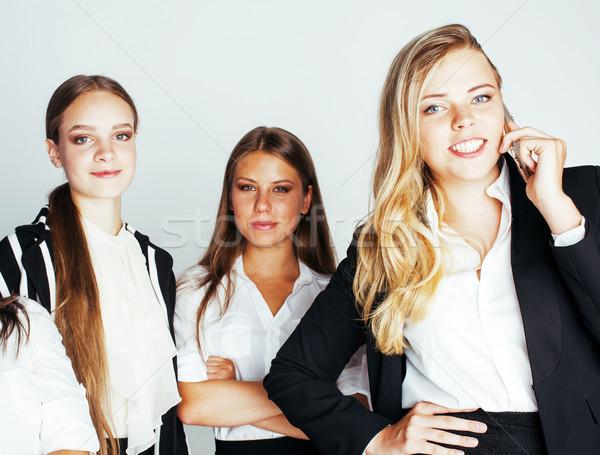 Işkadınları mutlu gülen başarı takım Stok fotoğraf © iordani