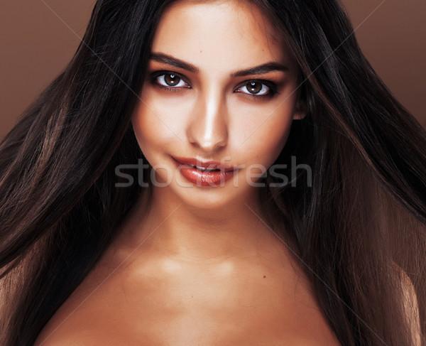 かわいい 幸せ 小さな インド 女性 スタジオ ストックフォト © iordani
