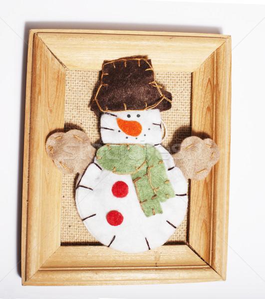Stock fotó: Karácsony · dekoráció · izolált · fehér · posta · kártya
