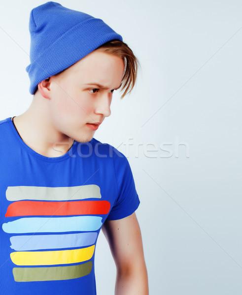 Foto stock: Jóvenes · guapo · tipo · posando