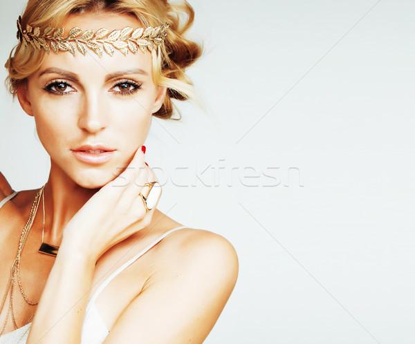 Jovem loiro mulher como antigo grego Foto stock © iordani