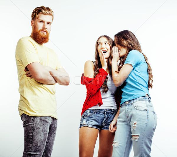 Stock fotó: Cég · hipszter · srácok · szakállas · vörös · haj · fiú