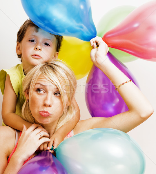 Bastante real família cor balões branco Foto stock © iordani