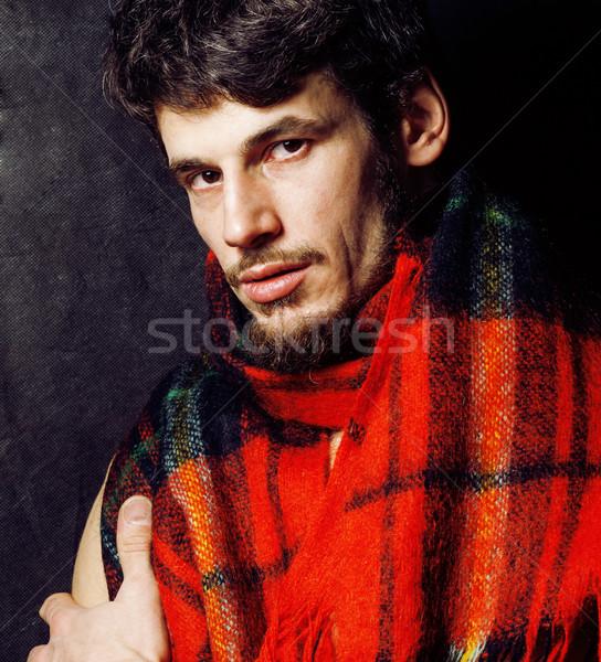 Portret knap volwassen moderne bebaarde Stockfoto © iordani