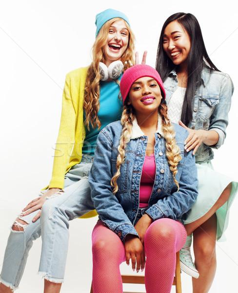 Nation Mädchen Gruppe jugendlich Freunde Stock foto © iordani
