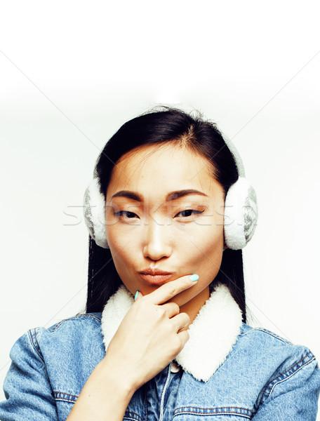 Foto d'archivio: Giovani · bella · asian · donna · posa