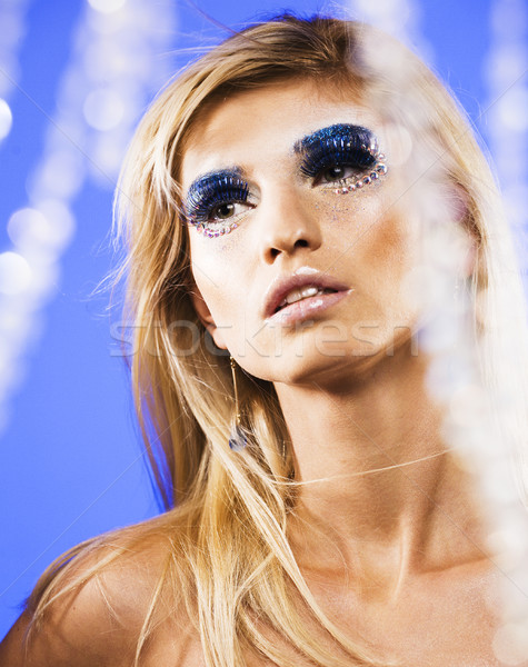 Beleza jovem neve rainha fadas cabelo Foto stock © iordani