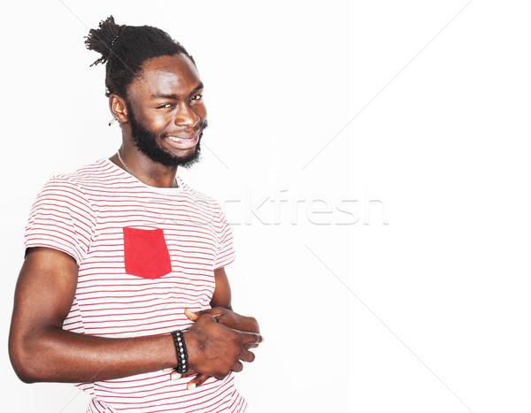 Foto d'archivio: Giovani · bello · afro · americano · ragazzo