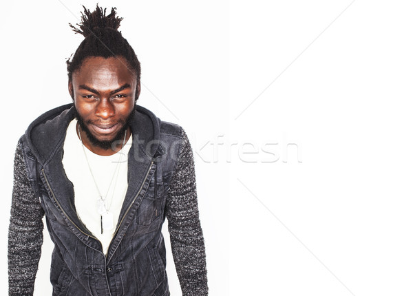 Jungen gut aussehend afro Junge stylish Stock foto © iordani