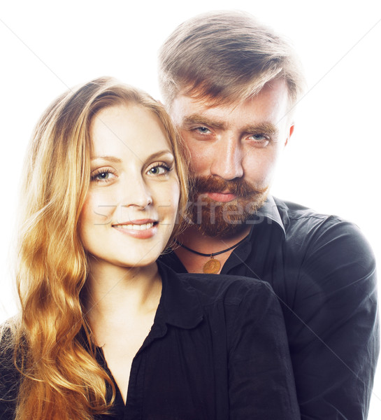 Jovem tenro casal homem mulher amor Foto stock © iordani
