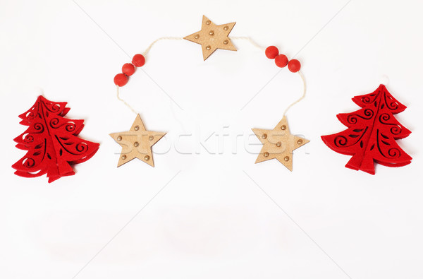 christmas decoration isolated , white background for post card g Stock photo © iordani