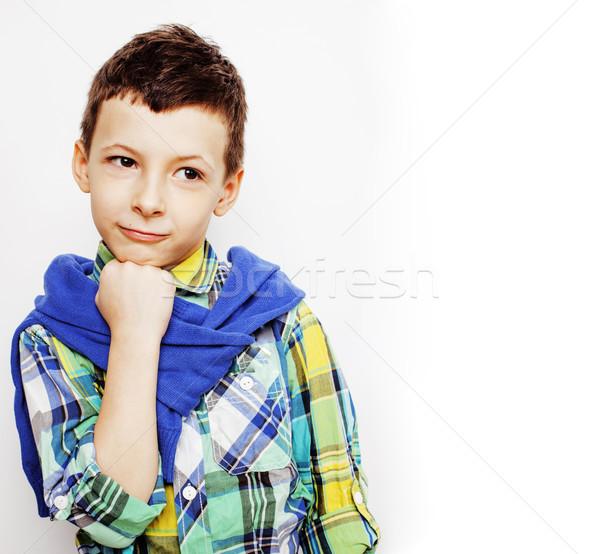 мало Cute прелестный мальчика позируют Сток-фото © iordani