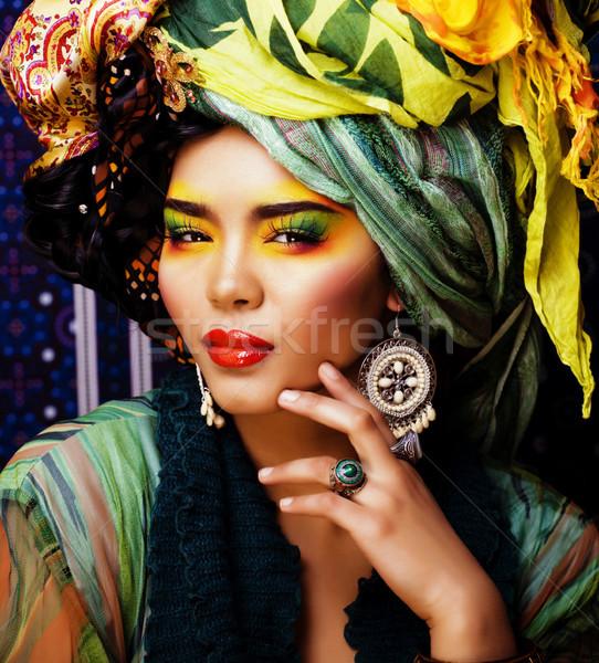 Schönheit hellen Frau kreative machen viele Stock foto © iordani