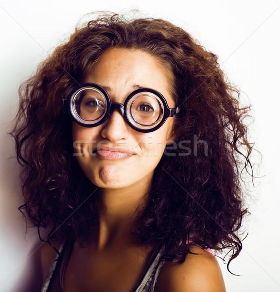 книжный червь Cute очки жизни Сток-фото © iordani