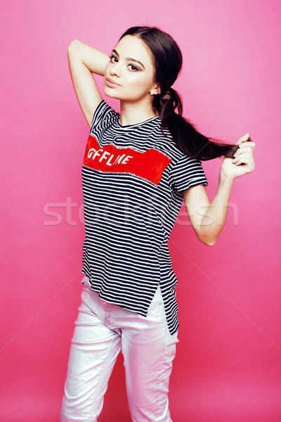 小さな かなり 十代の 女性 ポーズ ストックフォト © iordani