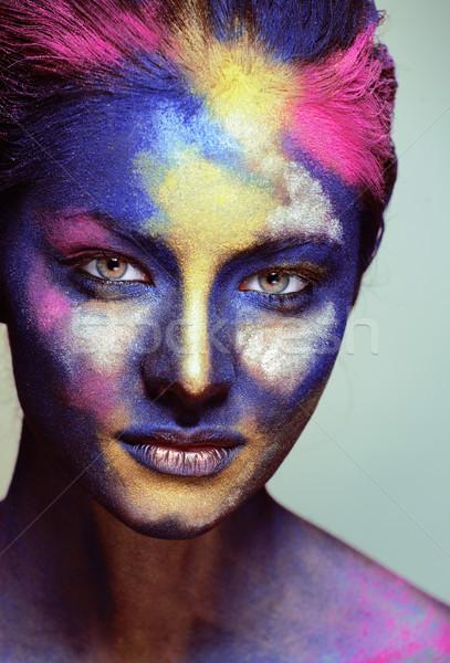 Piękna kobieta twórczej uzupełnić jak święty Zdjęcia stock © iordani