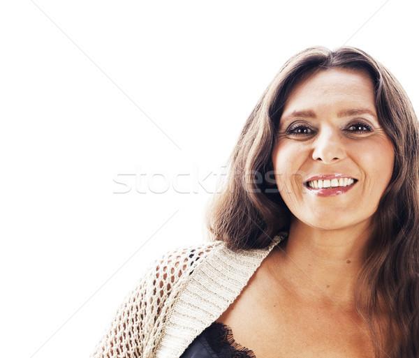 Bastante morena mulher madura estúdio estilo de vida sessão Foto stock © iordani