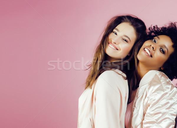 Diferente nación ninas piel pelo Asia Foto stock © iordani